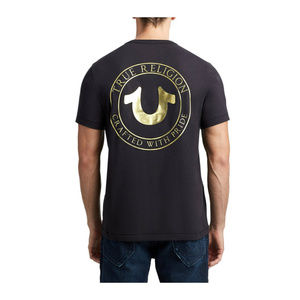 True Religion Men's Metallic Foil Logo Tee T-Shirt